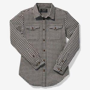 FILSON women's scout shirt black & white check